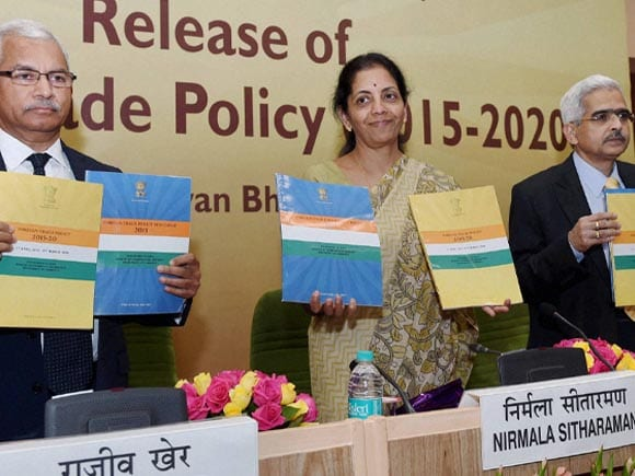 Foreign Trade Policy, Minister of State for Commerce & Industry, Nirmala Sitharaman, Shaktikanta Das, Commerce Secretary, Rajeev Kher