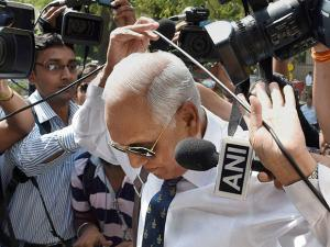 Former Air Chief Marshal S.P. Tyagi arriving at the CBI headquarters in New Delhi on Monday,in connection with alleged corruption in the 3,600 crore AgustaWestland choppers deal02
