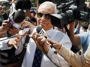 Former Air Chief Marshal S.P. Tyagi arriving at the CBI headquarters in New Delhi on Monday,in connection with alleged corruption in the 3,600 crore AgustaWestland choppers deal07