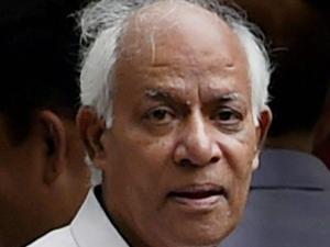 Former coal secretary H C Gupta outside Patiala House Court