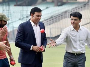 Sourav Ganguly, VVS Laxman at Pink Ball Test Match