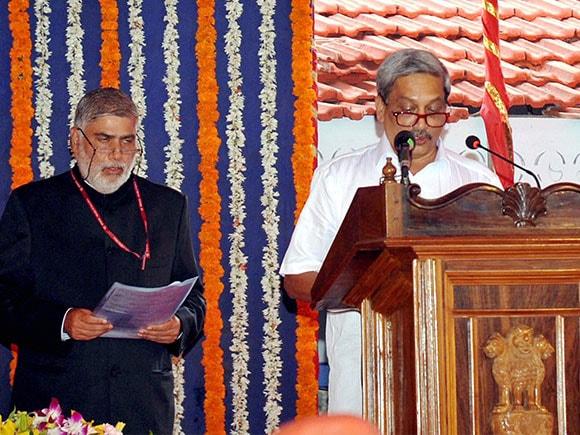 Manohar Parrikar, Chief Minister of Goa, Defence Minister, Lakshmikant Parsekar, BJP