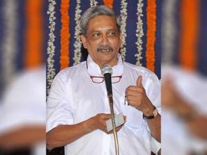 Goa's new Chief Minister Manohar Parrikar during the swearing-in ceremony in Panaji
