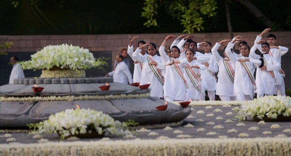 Children, perform, occasion, former Prime Minister, Rajiv Gandhi's, 70th birth, anniversary, Vir Bhoomi