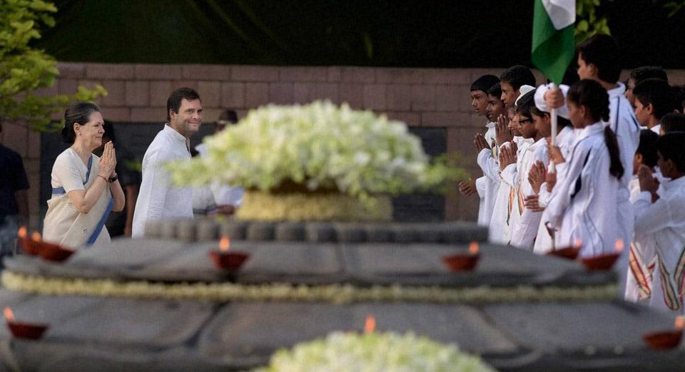 Congress President, Sonia Gandhi's, daughter, Priyanka Vadra, Robert Vadra, tribute, former Prime Minister, Rajiv Gandhi, 70th, birth, anniversary, Vir Bhoomi