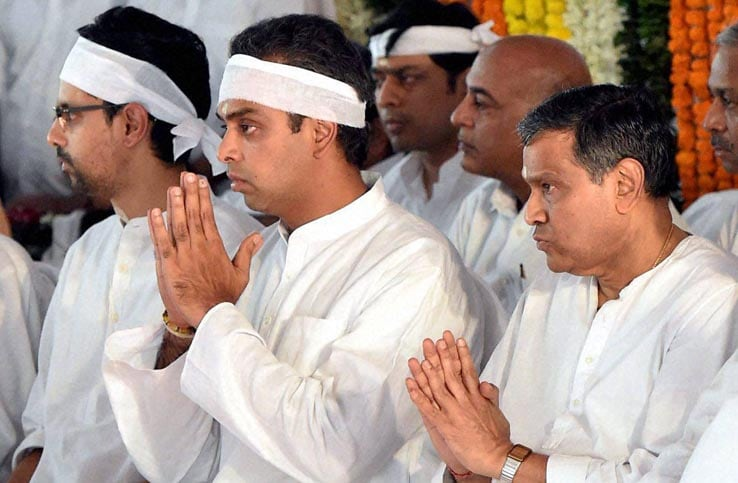 Murli Deora, former Union minister, funeral, Milind Deora, Rahul Gandhi, Nagma, Maninderjeet Singh Bitta