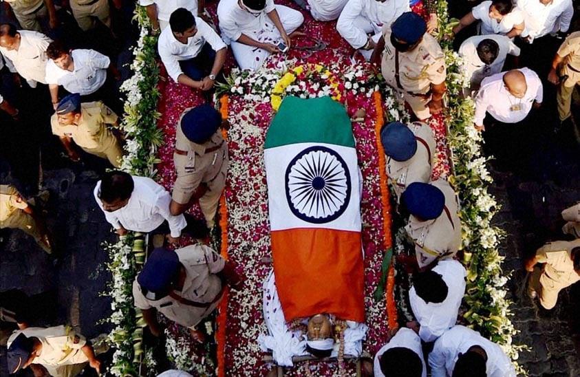 Maninderjeet Singh Bitta, Murli Deora, former Union minister, funeral, Milind Deora, Rahul Gandhi, Nagma