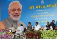 Prime Minister Narendra Modi, Governor of Maharashtra, K. Sankaranarayanan and Union Minister for Road Transport & Highways and Shipping