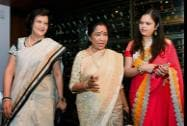 Legendary singer Asha Bhosle with FLO President Neeta Boochra and Chairperson of FYLO Avarna Jain at an FYLOs function in New Delhi