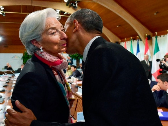 IMF Managing Director, Christine Lagarde, US President, Barack Obama, German Chancellor, Angela Merkel, G-7 leaders,  G-7 summit, Germany, Schloss Elmau hotel, Garmisch-Partenkirchen