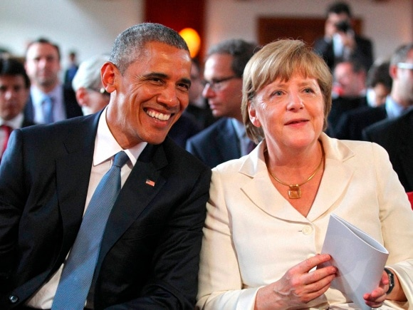 US President, Barack Obama, German Chancellor, Angela Merkel, G-7 leaders,  G-7 summit, Germany, Schloss Elmau hotel, Garmisch-Partenkirchen