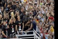 Germany's World Cup-winning team has returned home  from Brazil