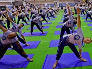 ISKCON followers from 109 different countries participate in Yoga session