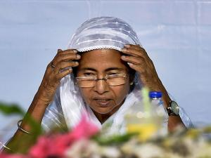 West Bengal Chief Minister Mamata Banerjee  during an Iftar party
