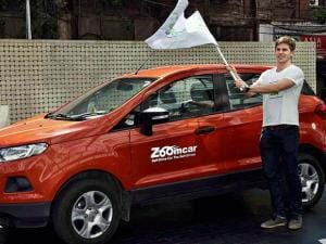Founder and CEO of Zoomcar,Greg Moram at the Official Launch in Kolkata