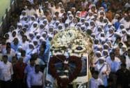 Hundreds brave rain to pay last respects to sister Nirmala