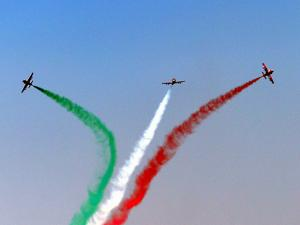 IAF airplanes in a trident formation