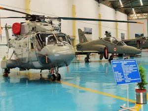 Aircrafts and Choppers parked at the Aircraft and Systems Testing Establishment (ASTE)