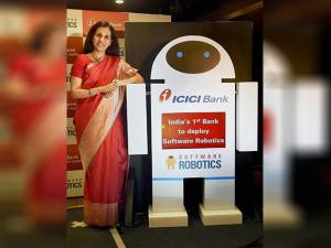Chanda Kochhar during the launch of 'Software Robotics'