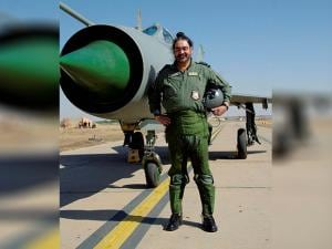 Chief of the Air Staff, Air Chief Marshal BS Dhanoa after a MiG-21 sortie at the Forward Base in Barmer