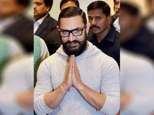 Aamir Khan during the screening of the film 'Dangal'
