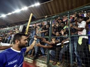 The cricketer greeted fans of football and himself