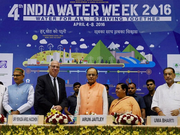 Water Week, India Water Week, water expo 2016, water expo conference 2016, india water week 2016, Water for all: Striving together, Uma Bharti, Uri Ariel, india water week photos, india water week chief guest, India Israel, india israel relationship, india israel ties