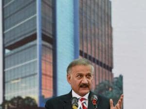 CBI Director Anil Sinha speaks during inauguration of the new office building of CBI in Mumbai