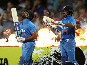 indian batsmen rohit sharma and shikhar dhawan