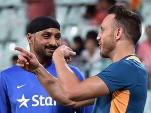 Indian Cricketer Harbhajan Singh and South Africa Captain Du Plessis