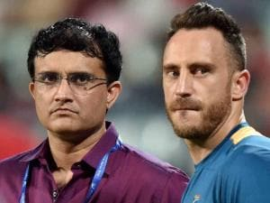 Sourav Ganguly and Du Plessis