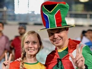 South African supporters during T20 match against India