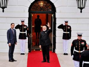 Prime Minister Narendra Modi arrives at the White House, in Washington