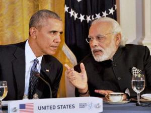 Prime Minister Narendra Modi at the dinner hosted by the President of United States of America (USA), Barack Obama, at the White House, in Washington