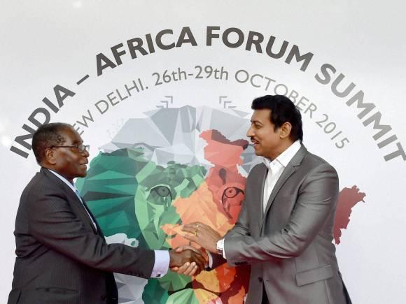 India-Africa Summit, Zimbabwe President, Robert Mugabe, Rajyavardhan Singh Rathore