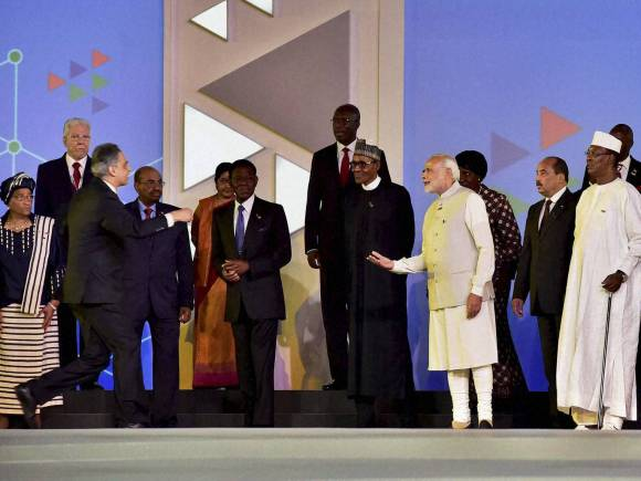 Narendra Modi, India-Africa Summit, Zimbabwe President, Robert Mugabe, Solar Rich countries, Rajyavardhan Singh Rathore, India Africa, India Africa Summit, Africa Summit, Africa India Summit, India Africa ties, India Africa Summit Dinner
