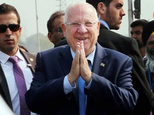 Reuven Rivlin greets in Namaste style in Chandigarh