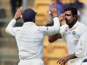 R Ashwin gestures after taking the wicket of   Mitchell Starc