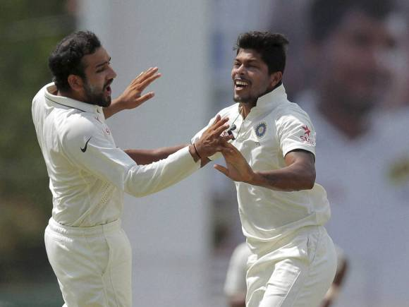 Umesh Yadav, Rohit Sharma, Angelo Mathews, India, Sri Lanka, Colombo