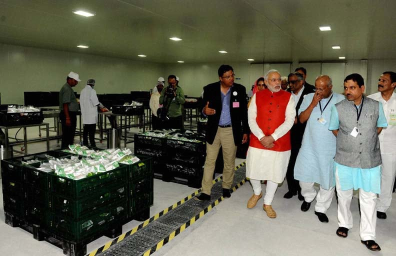 Prime Minister, Narendra Modi, Future Group, CEO, Kishore Biyani, inaugurating, India Food Park