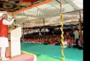 Prime Minister Narendra Modi addresses students of the Siddaganga Mutt