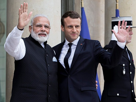 India France, Indo French, The Paris Agreement, Narendra Modi, Emmanuel Macron, paris climate agreement, President of France, Elysee Palace