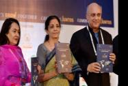 Minister of State, Commerce and Industry, Nirmala Sitharaman with FICCI President Sidharth Birla and FICCI Senior Vice President Jyotsna Suri