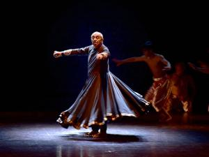 Dancer-Choreographer Astad Deboo performs  at Kamani Auditorium in New Delhi