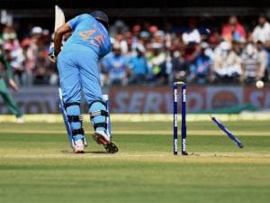 Rohit Sharma bowled by K Rabada of South Africa