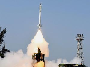 Take off view of the Advanced Area Defence Endo-Atmospheric Interceptor Missile of the DRDO successfully test fired