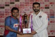 India's test match captain Virat Kohli and Bangladesh's test match captain Mushfiqur Rahim