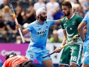 Indian player celebrates Goal against Pakistan