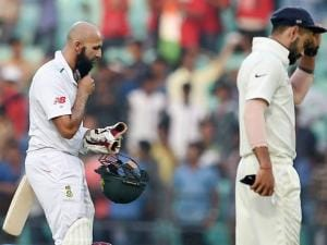South African captain hashim Amla and Indian captain Virat Kohli