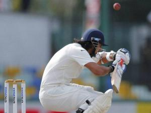 India's Ishant Sharma ducks to avoid a bouncer off Sri Lanka's Dhammika Prasad